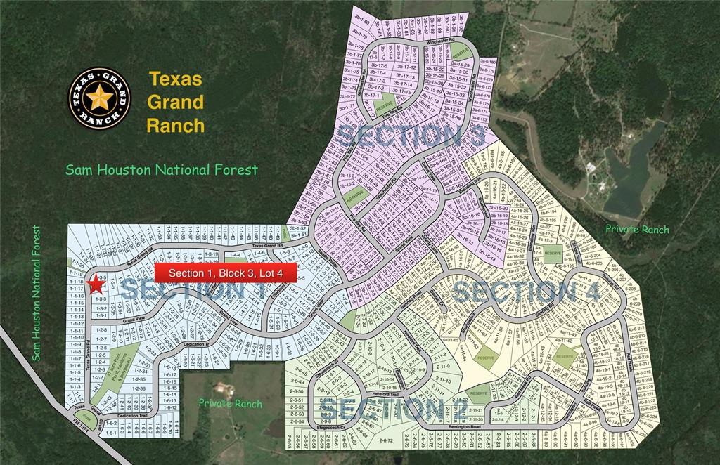 Texas Grand Ranch Map 1 3 4 Texas Grand Road, Huntsville, TX 77340   HAR.com